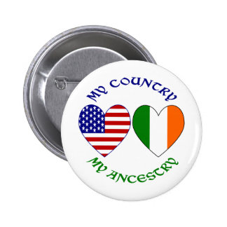Ireland My Country My Ancestry Button