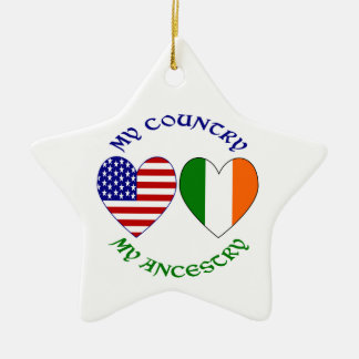 Ireland My Country My Ancestry Ceramic Ornament