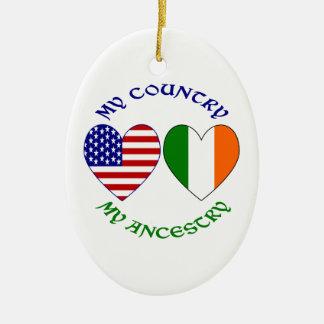 Ireland My Country My Ancestry Ceramic Ornament