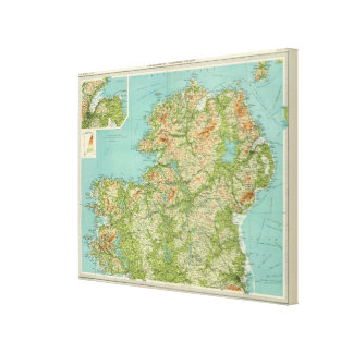 Ireland northern section canvas print