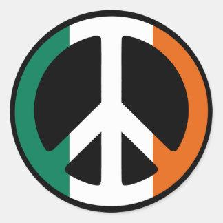 Ireland Peace Sign Classic Round Sticker