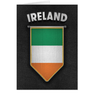 Ireland Pennant with high quality leather look Card