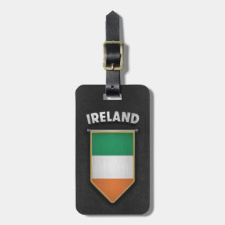 Ireland Pennant with high quality leather look Luggage Tag