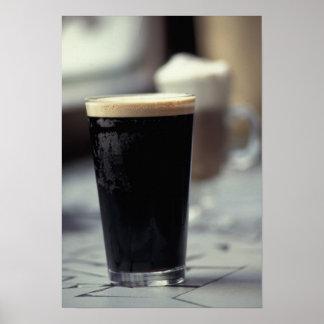 Ireland. Pint of stout. Poster