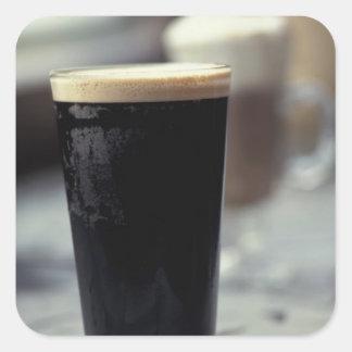 Ireland. Pint of stout. Square Sticker