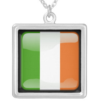 Ireland polished silver plated necklace