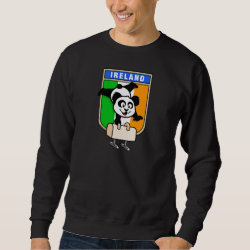 Irish Pommel Horse Panda Men's Basic Sweatshirt