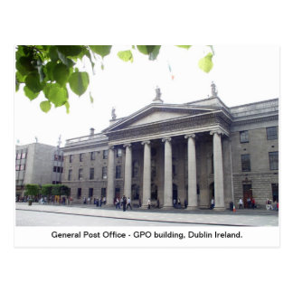 Ireland postcard, GPO Dublin city Postcard