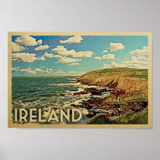 Ireland Poster Vintage Travel Print Irish Coast