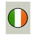 Ireland quality Flag Circle Postcard