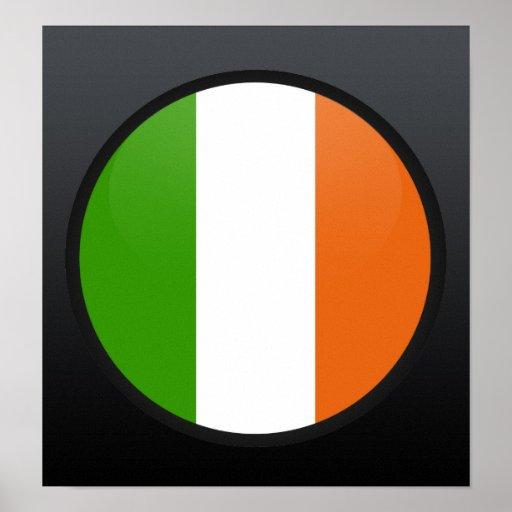 Ireland quality Flag Circle Print