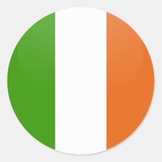 Ireland quality Flag Circle Round Stickers