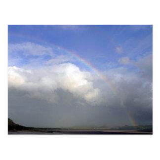 Ireland Rainbows Couds Sky Postcard