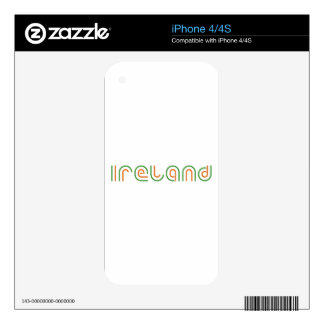 Ireland, Retro font Decals For iPhone 4S