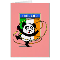 Greeting Card with Irish Rhythmic Gymnastics Panda design