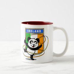 Two-Tone Mug with Irish Rhythmic Gymnastics Panda design