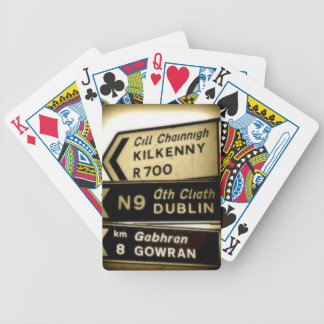 Ireland Roadside Signs Bicycle Playing Cards