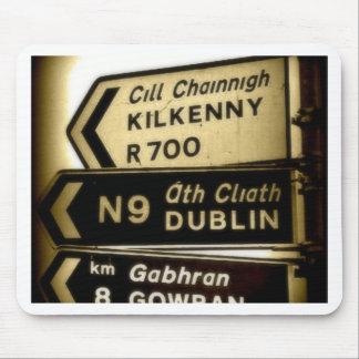 Ireland Roadside Signs Mousepads
