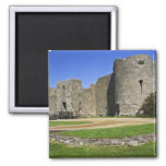 Ireland, Roscommon Castle. View of 2 Inch Square Magnet