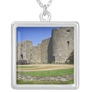 Ireland, Roscommon Castle. View of Silver Plated Necklace