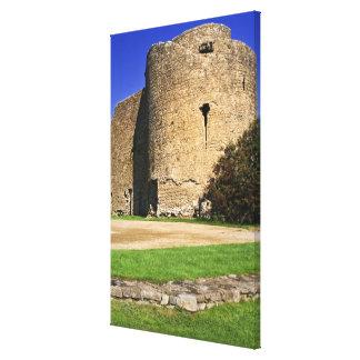 Ireland, Roscommon. View of Roscommon Castle. Canvas Print