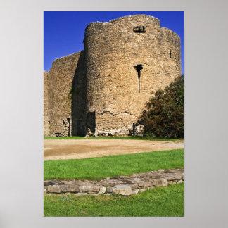 Ireland, Roscommon. View of Roscommon Castle. Poster