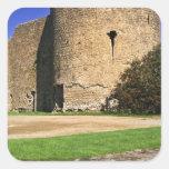 Ireland, Roscommon. View of Roscommon Castle. Square Sticker