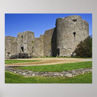 Ireland, Roscommon. View of ruins of Roscommon Poster