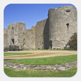 Ireland, Roscommon. View of ruins of Roscommon Square Sticker