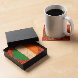 Ireland round flag coaster