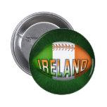Ireland Rugby Ball 2 Inch Round Button