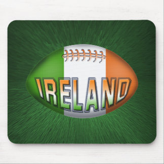 Ireland Rugby Ball Mouse Pad
