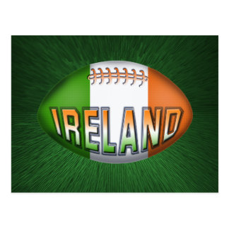 Ireland Rugby Ball Postcard