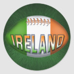 Ireland Rugby Ball Stickers