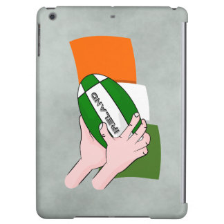 Ireland Rugby Team Supporters Flag With Ball iPad Air Covers