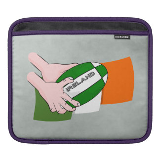 Ireland Rugby Team Supporters Flag With Ball iPad Sleeve