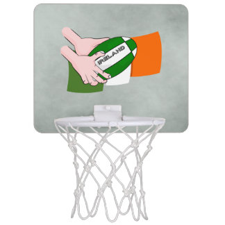 Ireland Rugby Team Supporters Flag With Ball Mini Basketball Hoop