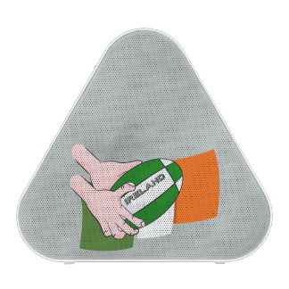 Ireland Rugby Team Supporters Flag With Ball Speaker