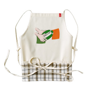 Ireland Rugby Team Supporters Flag With Ball Zazzle HEART Apron