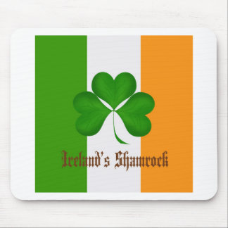 Ireland s Flag and Shamrock Gifts Mouse Pad