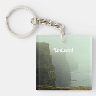 Ireland Sea Cliffs Square Acrylic Keychain