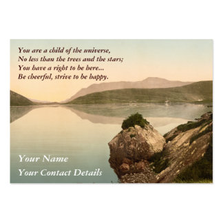 Ireland Sea Coast Motivational Desiderata Business Card Templates