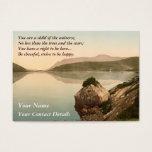 Ireland Sea Coast Motivational Desiderata Business Card at Zazzle