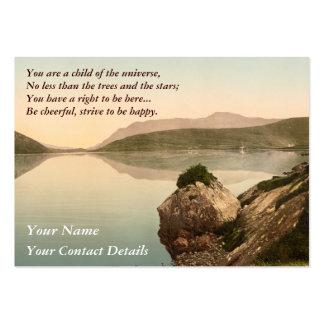 Ireland Sea Coast Motivational Desiderata Large Business Card
