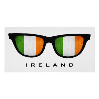 Ireland Shades custom text & color poster