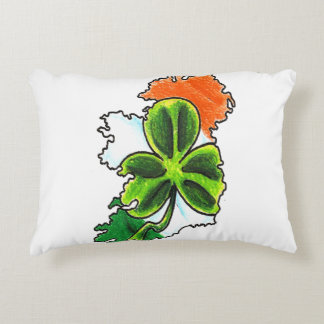 ireland shamrock accent pillow