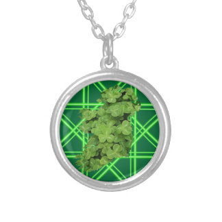 Ireland Shamrock by Kenneth Yoncich Silver Plated Necklace