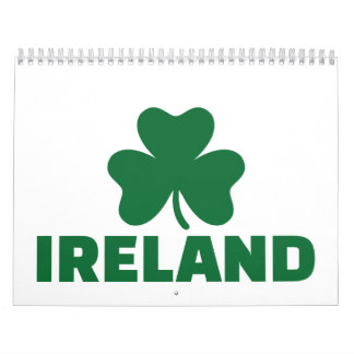 Ireland shamrock calendars