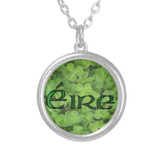 Ireland Shamrock Fields by Kenneth Yoncich Silver Plated Necklace