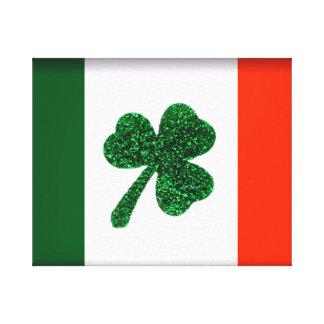 Ireland Shamrock Flag Canvas Art Canvas Print